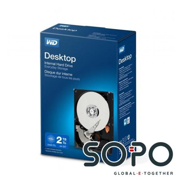 Western Digital Desktop Everyday 2000GB Serial ATA III Interne Festplatte