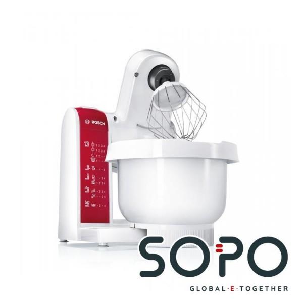 Bosch MUM48010DE 600W 3.9l Rot, Weiß Küchenmaschine