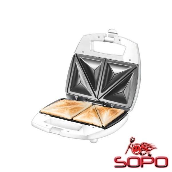 Unold 48421 750W Edelstahl, Weiß Sandwich-Toaster