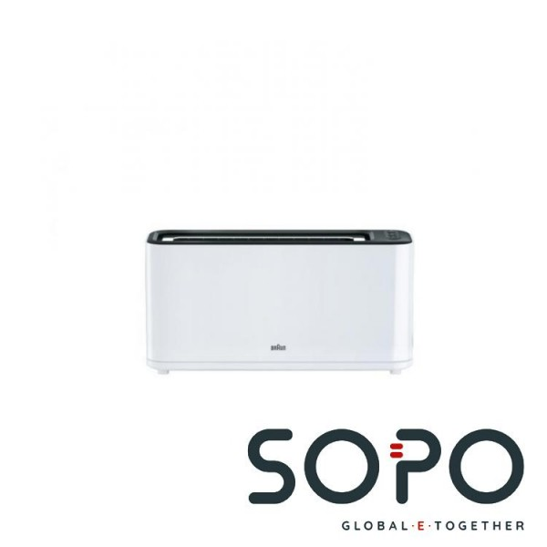 Braun HT3100WH 1Scheibe(n) 1000W Schwarz, Weiß Toaster