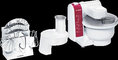 Bosch MUM4825 600W Rot, Weiß Küchenmaschine