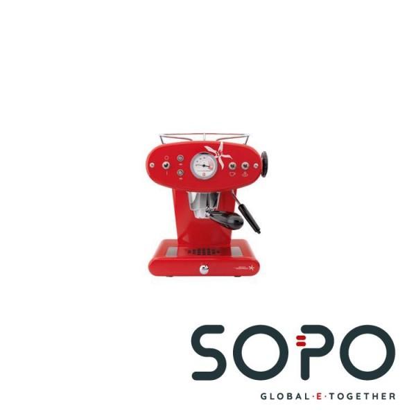 Illy Francis Francis X1 Freistehend Manuell Espressomaschine 0.96l 1Tassen Rot