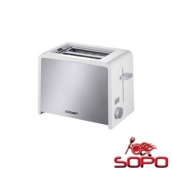 Cloer Toaster 3211 2Scheibe(n) Silber, Weiß Toaster