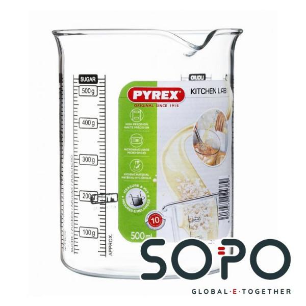 Pyrex Messbecher, 0.25 l, Glas, 7070.54110