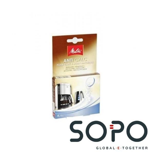 Melitta Entkalker, AntiCalc Cafe &amp, Aqua, 4x 12g, für Kaffee--Espressomaschinen