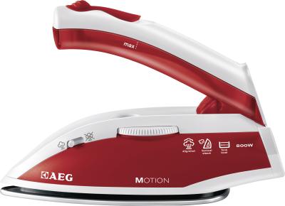 AEG DBT800 Trocken- &amp, Dampfbügeleisen Edelstahl-Bügelsohle 800W Rot, Weiß