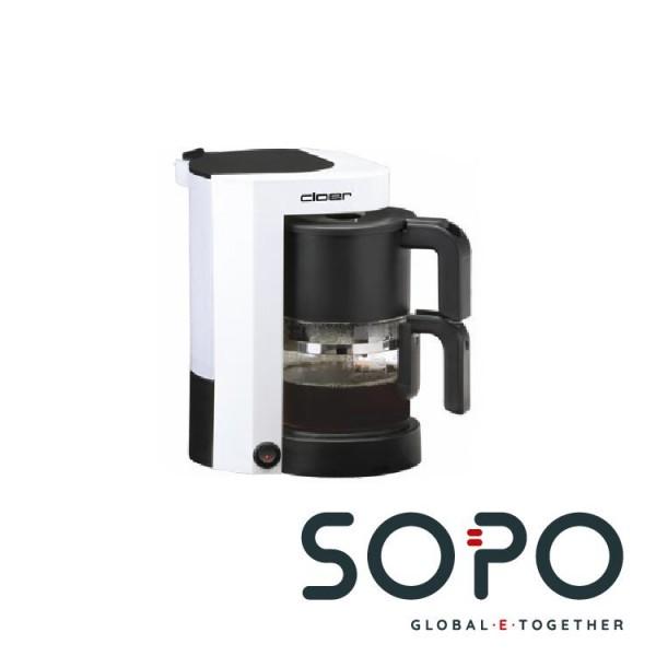 Cloer 5981 Freistehend Filterkaffeemaschine 5Tassen Weiß Kaffeemaschine