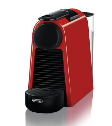 DeLonghi Essenza Mini EN 85.R Freistehend Vollautomatisch Pad-Kaffeemaschine 0.6l Schwarz, Rot Kaffe