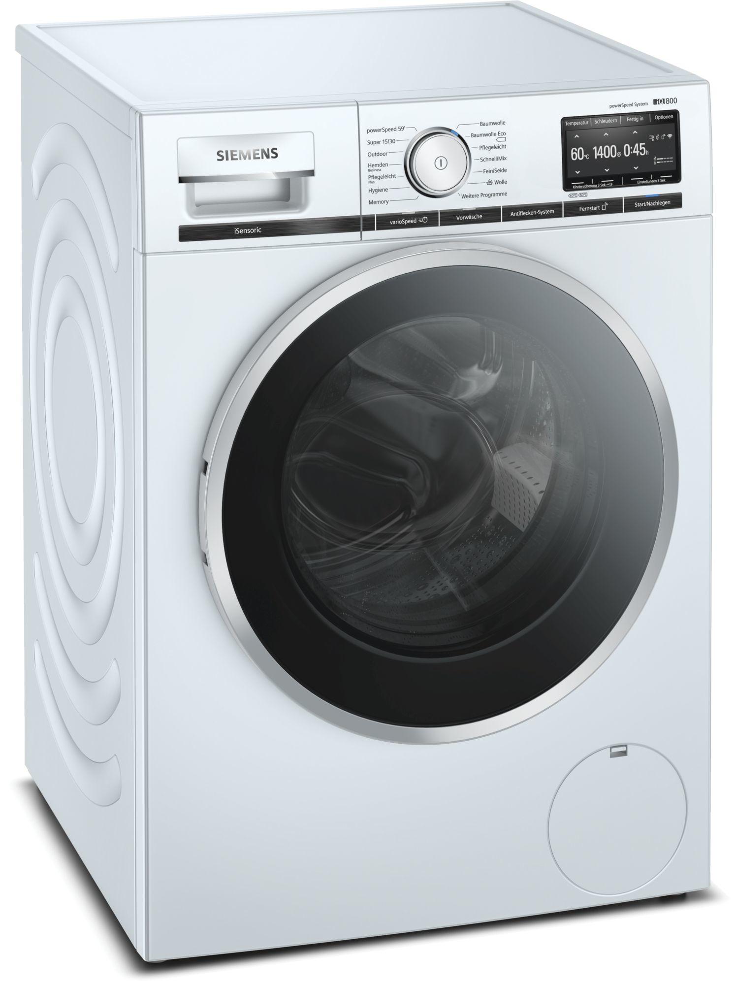 Siemens iQ800 WM14VG40 Waschmaschine, Frontlader, 9kg, 1400 Umin.