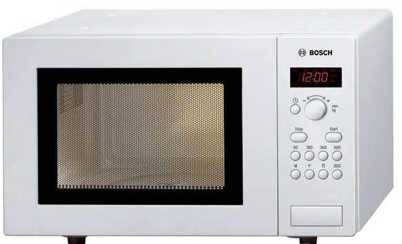 Bosch Mikrowelle HMT75M421 Weiß 800W Serie 4
