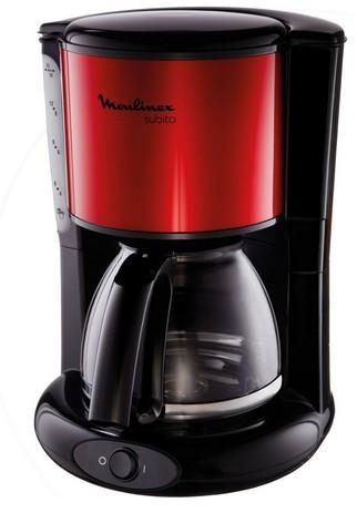 Moulinex Subito Freistehend Manuell Filterkaffeemaschine 1.25l 15Tassen Schwarz, Rot