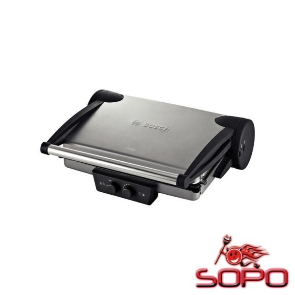 Bosch TFB4431V Grill Tisch Elektro 2000W Schwarz, Edelstahl Barbecue &amp, Grill