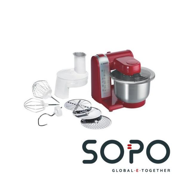 Bosch MUM48R1 600W 3.9l Rot, Edelstahl, Weiß Küchenmaschine