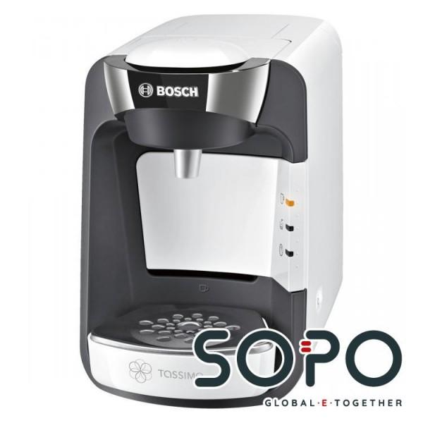 Bosch TASSIMO SUNY Freistehend Halbautomatisch Pad-Kaffeemaschine 0.8l Chrom, Weiß