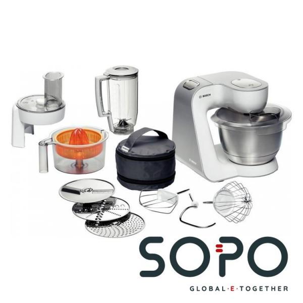 Bosch MUM54230 900W 3.9l Silber, Weiß Küchenmaschine