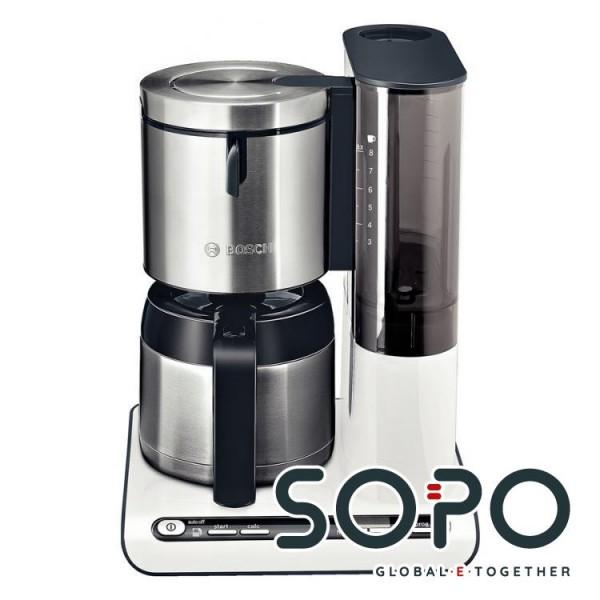 Bosch TKA8651 Freistehend Filterkaffeemaschine 1.15l 12Tassen Anthrazit, Weiß Kaffeemaschine