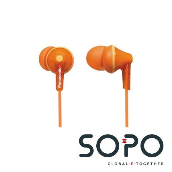 Panasonic RP-HJE125E-D Orange im Ohr im Ohr Kopfhörer
