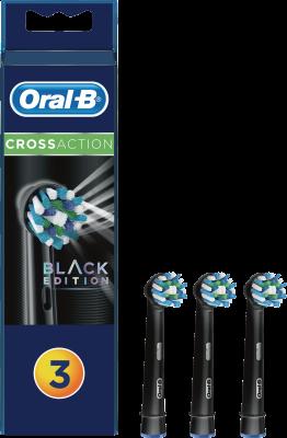 Braun Oral-B Aufsteckbürsten CrossAction schwarz 3er