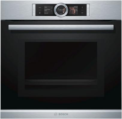 Bosch HMG636RS1 Einbau-Backofen mit Mikrowellenfunktion Edelstahl 67l Elektrischer Ofen Serie 8