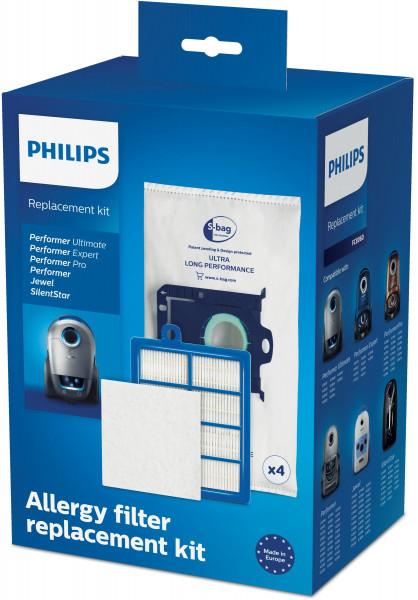 Philips Staubsaugerbeutel Microfilter FC 8060 01 Starter Kit