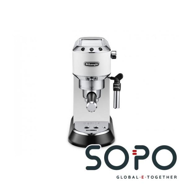 DeLonghi Dedica Style EC 685.W Freistehend Halbautomatisch Espressomaschine 1.1l Schwarz, Silber, We