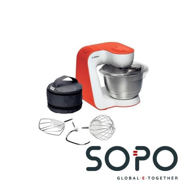 Bosch MUM54I00 Stehmixer 900W Edelstahl, Weiß Mixer