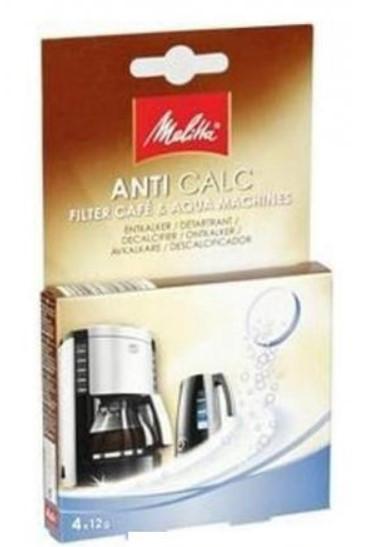 Melitta Entkalker AntiCalc Cafe & Aqua 4x 12g für Kaffee- Espressomaschinen