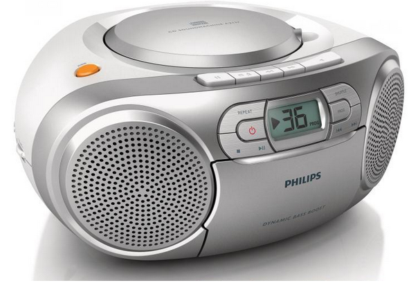 Philips CD-Soundmachine mit Kassette und Radio AZ127-12