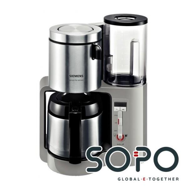 Siemens TC86505 Freistehend Filterkaffeemaschine 1l 12Tassen Schwarz, Grau, Edelstahl Kaffeemaschine