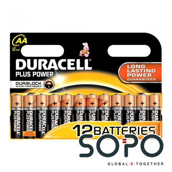Duracell MN 1500-12STK LR6 AA MIGNONZELLE 1,5V POWER PLUS
