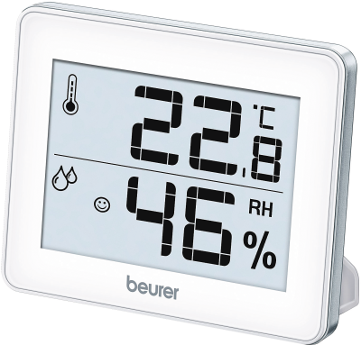 Beurer HM 16 Weiss-Silber Hygrothermometer